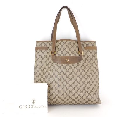 Vintage Gucci Monogram Tote Large GG Signature Shoulder Bag
