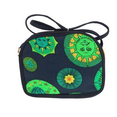 Vintage Versace Rare Sun Green Double  Shoulder Bag