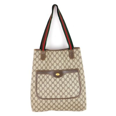 Vintage Gucci Signature GG Monogram Canvas Ribbon  Hand Bag