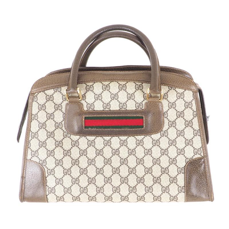 5281f24e9a19 Vintage Gucci Monogram Bowling Bag GG Rare Speedy Hand Bag ...