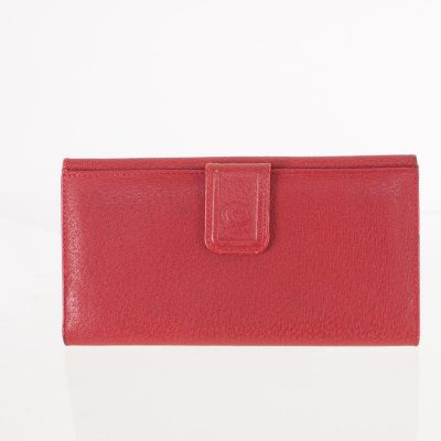 Vintage Gucci Red Genuine Leather Long  Wallet
