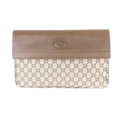 Vintage Gucci Large Double Flap Rare  Clutch Bag