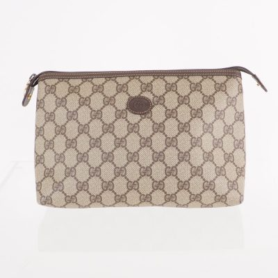 Vintage Gucci Simple Original Beige Monogram GG Clutch Bag