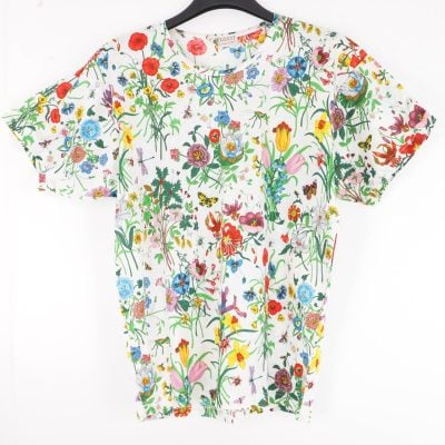 Vintage Gucci New Floral Bug Print Unisex T-Shirt Clothing