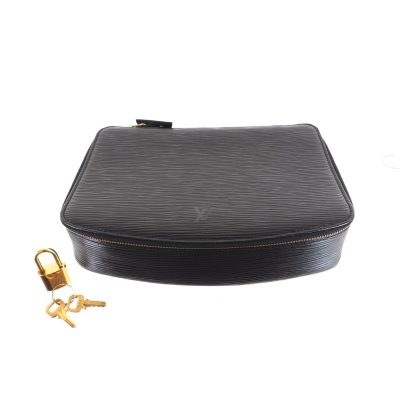 Vintage Louis Vuitton MI0985 Monte Carlo Black Epi Jewelry Case LV Pouch