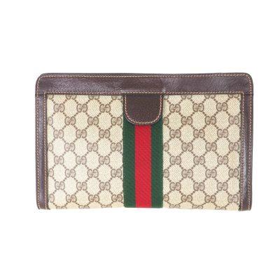 Vintage Gucci Excellent Condition Monogram  Clutch Bag