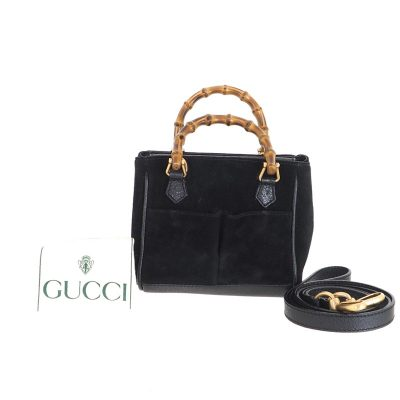 Vintage Gucci Excellent Condition Mini Bamboo Strap Hand Bag