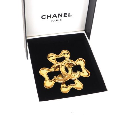 Vintage Chanel XL Jumbo Flower Gold Excellent Brooch