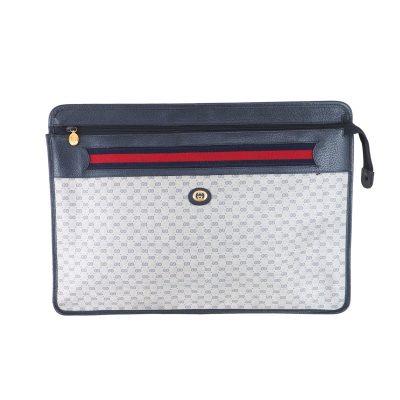 Vintage Gucci Micro GG Monogram Excellent XL Case Clutch Bag