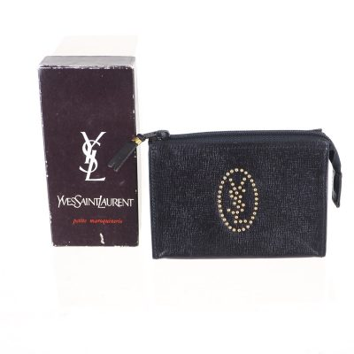 Vintage Yves Saint Laurent Studded YSL Mini  Pouch