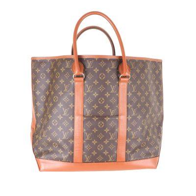 Vintage Louis Vuitton LV Monogram Sac Weekend 184 Unisex Excellent Hand Bag