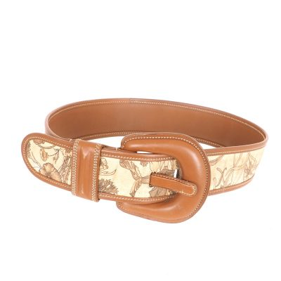Vintage Gucci Wide Corset Floral 1980's Belt