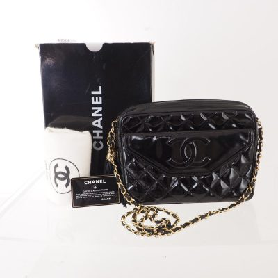 1bab9cb1fff Vintage Chanel Tassel Patent Chain Quilted Shoulder Bag