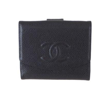 Vintage Chanel Caviar Black Simple Wallet