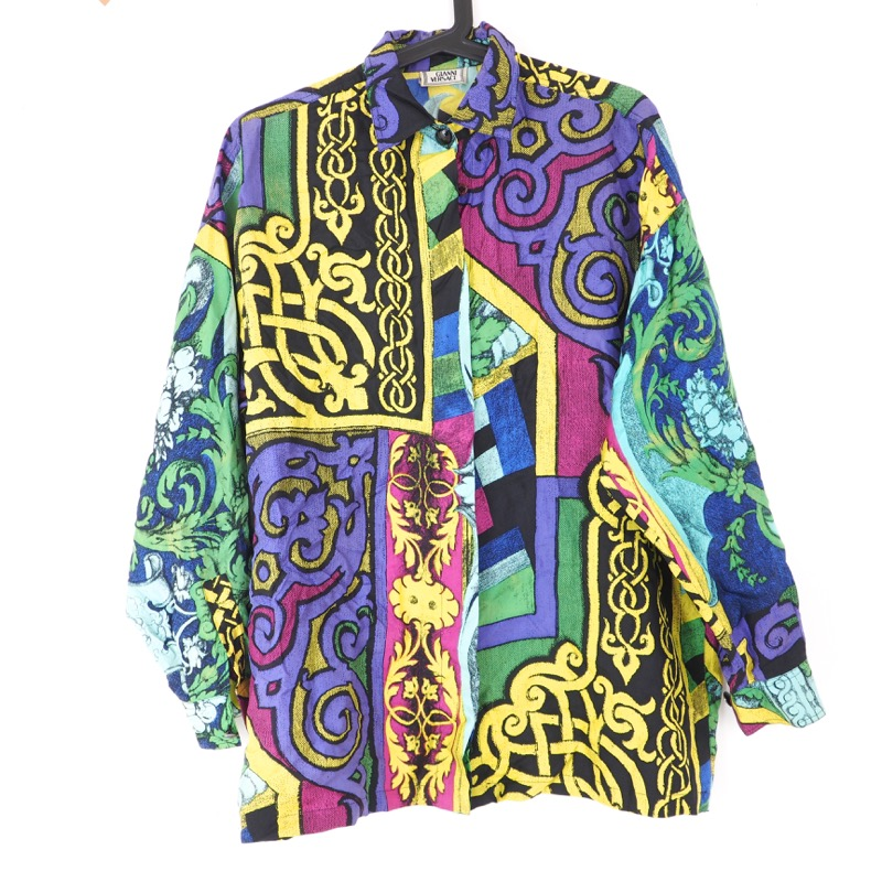 a9f2302c1dfae Vintage Versace Gianni Versace Signature Pattern Unisex Shirt Clothing