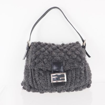 Vintage Fendi Mamma Baguette Yarn Knitted Hand Bag