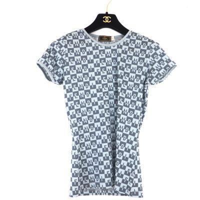Vintage Fendi Monogram Size 44 L T Shirt Clothing