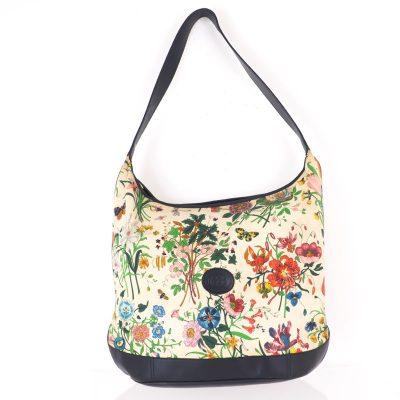 Vintage Gucci Large Floral Canvas Rare Hand Bag