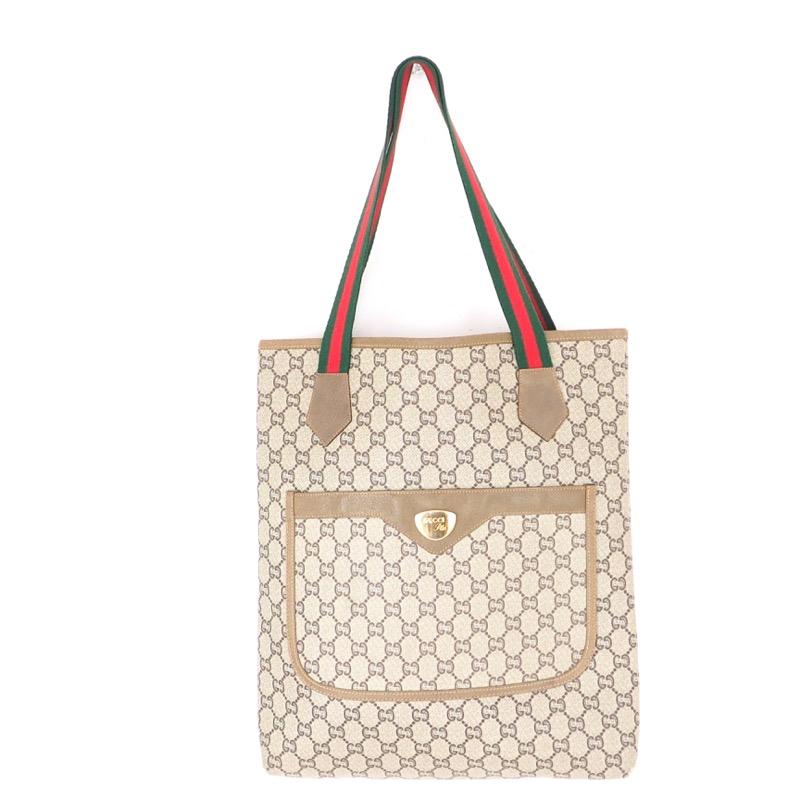 8d085e75a0c42 Vintage GUCCI Plus Monogram Excellent Tote Hand Bag - Nina Furfur ...