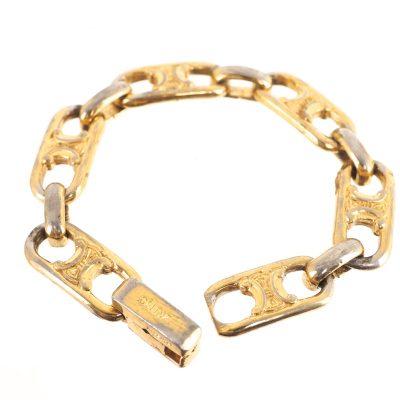 Vintage Celine Monogram Chain Logo Bracelet