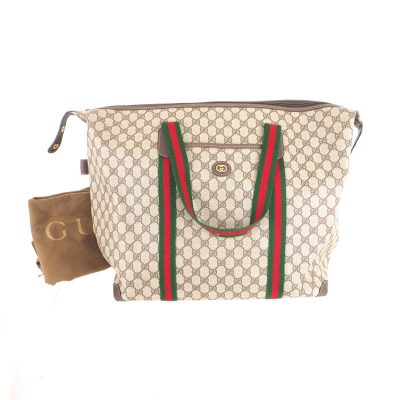 Vintage Gucci Excellent Like New GG Monogram Tote Shoulder Bag