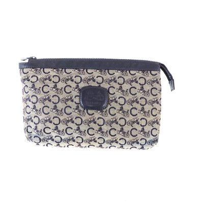 3515c318d6e Vintage Celine Horse Carriage Blue Monogram Clutch Bag