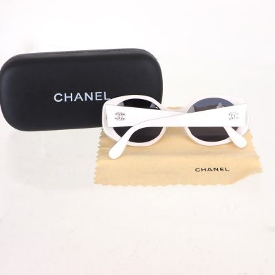 Vintage Chanel White Excellent Sunglasses Sunglasses