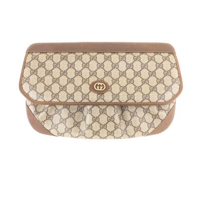 Vintage Gucci Extremely Rare Monogram Large Clutch Bag