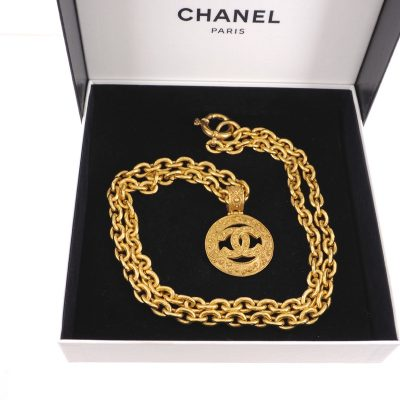Vintage Chanel 94A Arabesque Pattern Long Chain Excellent  Necklace