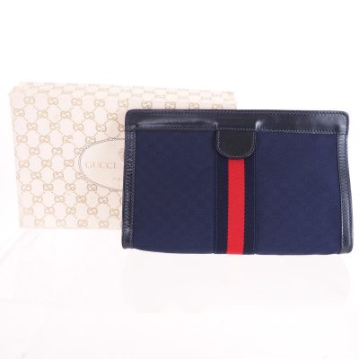 Vintage Gucci Micro GG Extremely Rare Mint  Clutch Bag