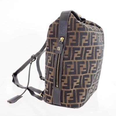 Vintage Fendi Zucca Monogram Rare Clochette Backpack