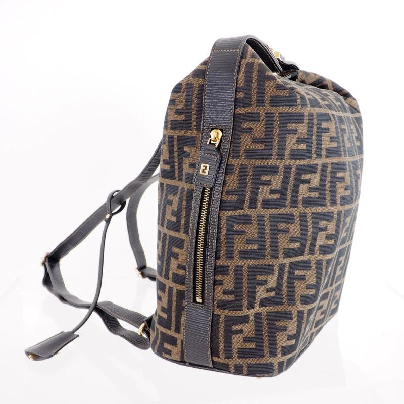 06c959a288 Vintage Fendi Zucca Monogram Rare Clochette Backpack - Nina ...