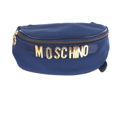 Vintage Moschino Royal Blue Excellent Fanny Pack  Waist Bag