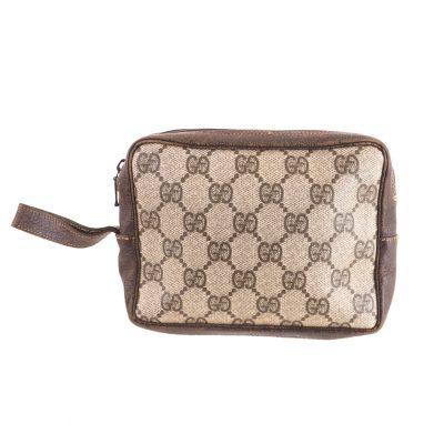 2aa60a9fd9bac3 Vintage Gucci Monogram Simple Square Mini Clutch Camera Bag Clutch Bag
