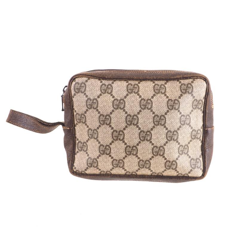 70c14b8a33a7 Vintage Gucci Monogram Simple Square Mini Clutch Camera Bag Clutch Bag