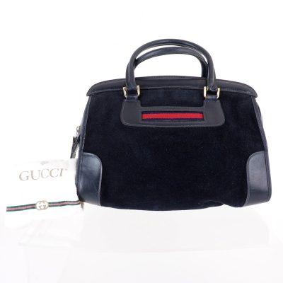 Vintage Gucci Royal Blue Suede Rare Speedy Hand Bag