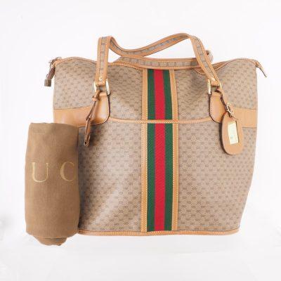 Vintage Gucci Large Monogram Micro GG Rare Hand Bag