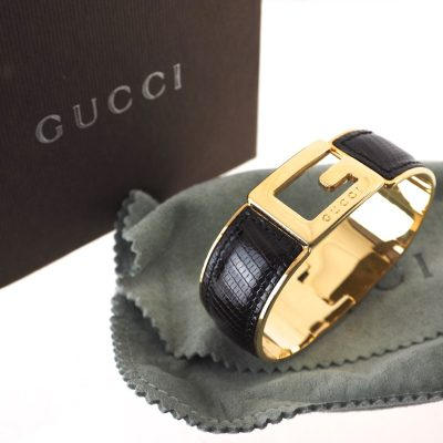 Vintage Gucci G Lizard Bangle Full Set NIB Bracelet