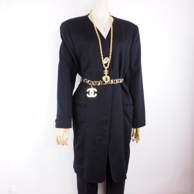 Vintage Gucci 100% Black Cashmere Long Jacket Coat