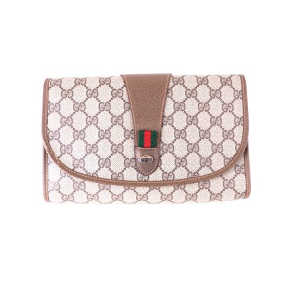 Vintage Gucci Mint Accessory Collection Monogram  Clutch Bag