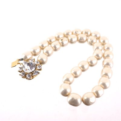 Vintage Yves Saint Laurent YSL Faux Pearl Bijoux Choker  Necklace