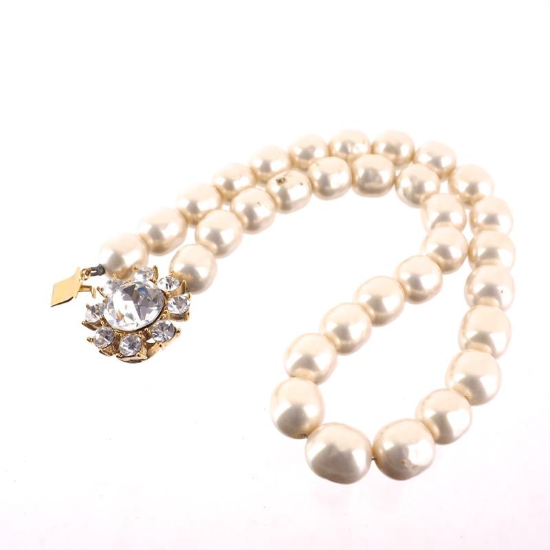 c023a23bb38 Vintage Yves Saint Laurent YSL Faux Pearl Bijoux Choker Necklace ...