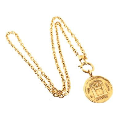 Vintage Chanel 31 Rue Cambon Large Charm Long Chain Necklace