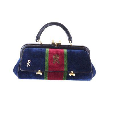 Vintage Roberta di Camerino Velour Signature Baghonghi Rare Hand Bag