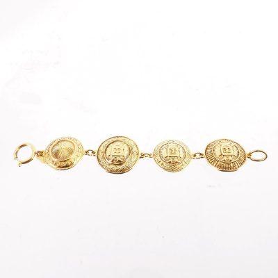 Vintage Chanel Medallion Coin New  Bracelet
