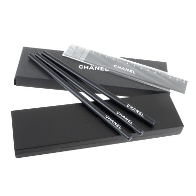 Vintage Chanel New Pencil Ruler Pencil Pencase Set Accessory