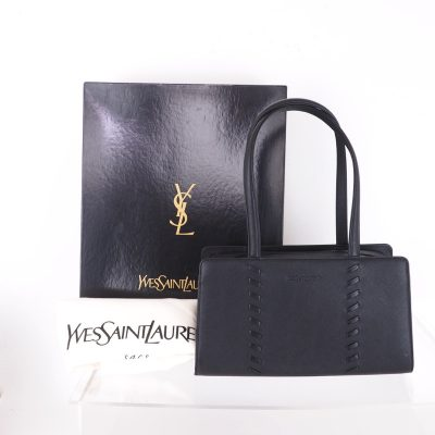Vintage Yves Saint Laurent YSL Leather Handbag NIB Hand Bag