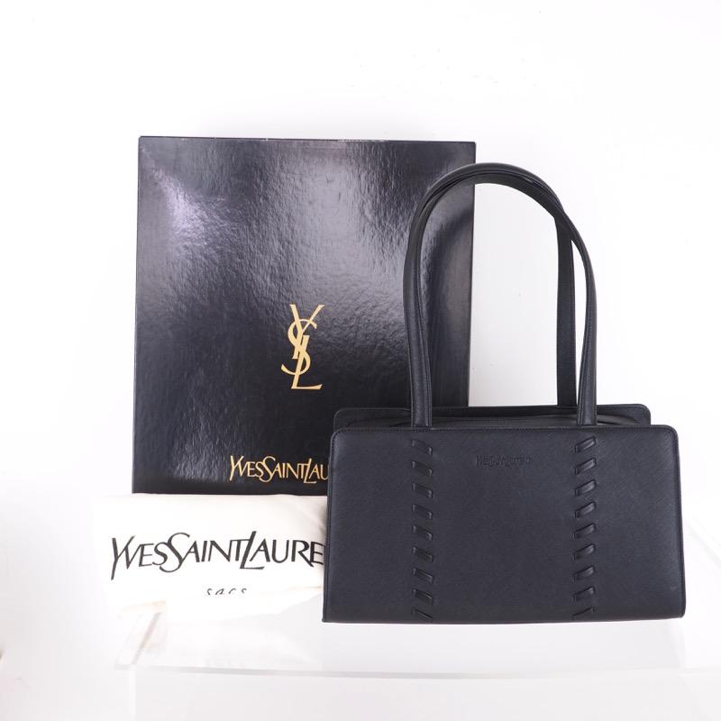 a2255ad04f8 Vintage Yves Saint Laurent YSL Leather Handbag NIB Hand Bag ...