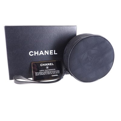 Vintage Chanel NIB Full Set New Travel Line Pouch Hand Bag