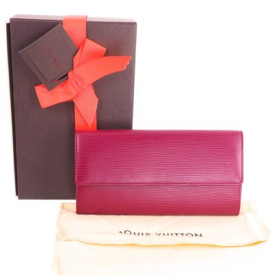 Vintage Louis Vuitton M60317 LV Fuchsia Pink Epi Long NIB Wallet